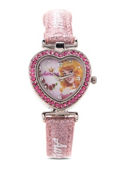 Disney Princess Heart Case Analog Watch