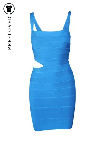 Hervé Léger blue Pre-Loved hervé léger Blue Bodycon Dress 85D9CAA158DBB7GS_1