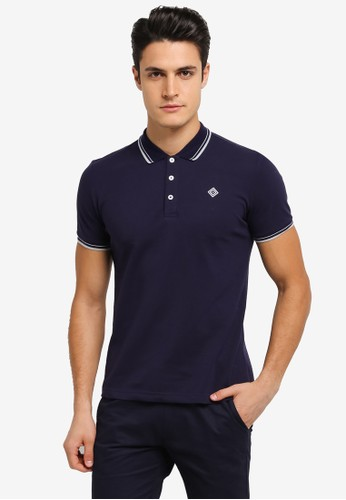 JAXON multi and navy Tipping Logo Polo Shirt 7556FAAE949E66GS_1