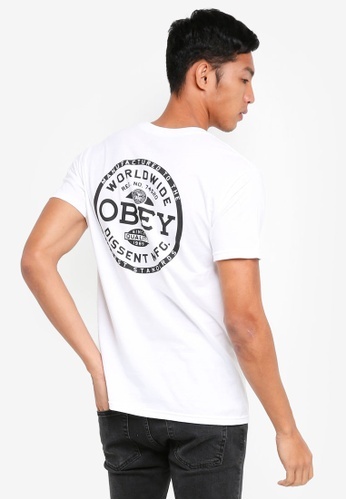 OBEY white Obey Dissent Standards T-Shirt 82B94AA3B30506GS_1
