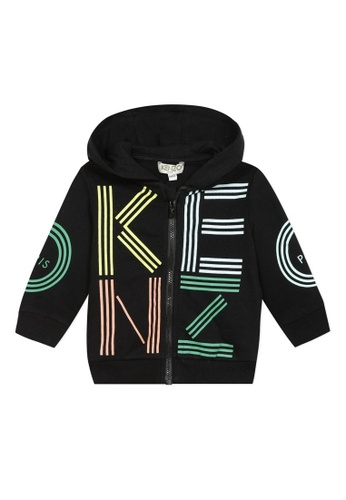 KENZO KIDS black and white and pink and yellow and green and multi KENZO BABY BOYS JACKET B6777KA1558CD7GS_1