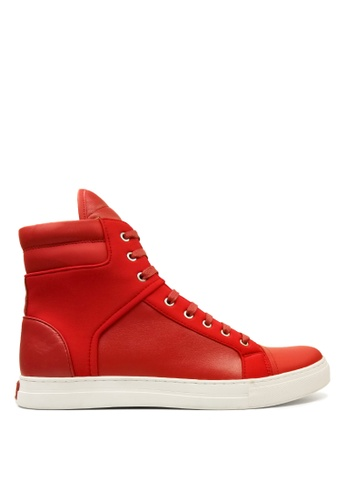 Kenneth Cole New York red DOUBLE HEADER - High Top Sneaker KE615SH0SAQFMY_1