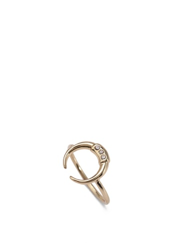 Orelia London white SS Crystal Double Tusk Ring OR747AC0SC4MMY_1