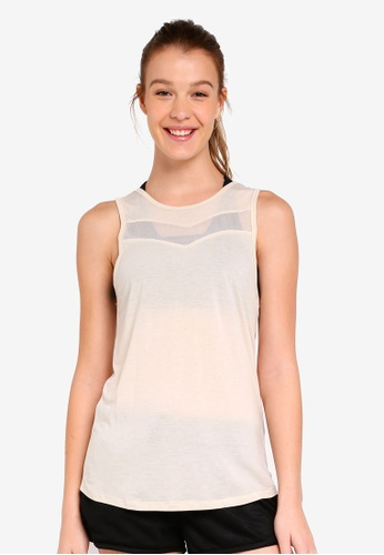 Cotton On Body white Mesh Panel Tank Top A2F61AAEF2567FGS_1