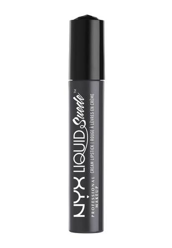 NYX Professional MakeUp black Liquid Suede Cream Lipstick - Stone Fox 03C85BE9EA57B8GS_1