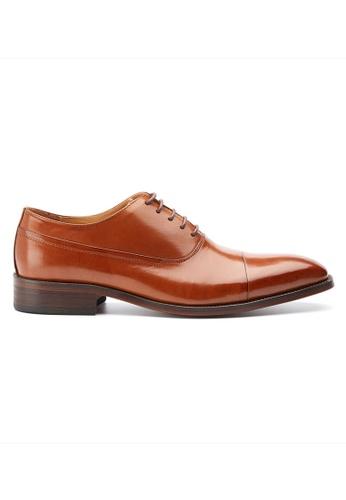 Kings Collection 褐色 馬貝拉布洛克皮鞋 032AESH3B47D3EGS_1