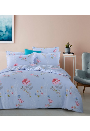Eurotex Eurotex Luxe Living, 900TC Tencel Printed, Allison - Fitted Sheet Set. 138F3HL8C59AB7GS_1