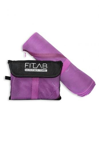 Fitlab purple Microfiber Bath Towel 1AA61HL2D24DE8GS_1