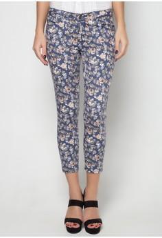Low Rise Floral Printed Pants