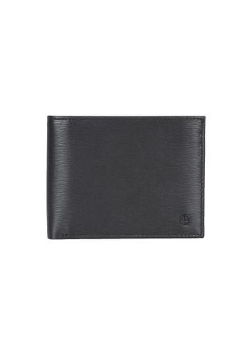 Goldlion black and blue Goldlion Men Leather Wallet (13 Cards Slot, Window Compartment, Center Flap, RFID Protection) - Black 67B78AC7BDB453GS_1
