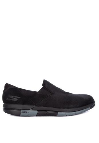 Skechers black Go Flex - Comrade Slip Ons AD62DSH6F9081AGS_1