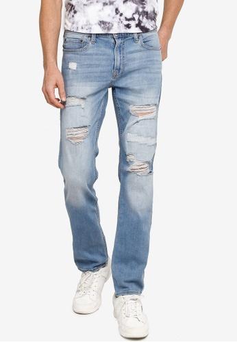 Hollister blue Slim Repair Jeans 47F47AA3E8CE2BGS_1