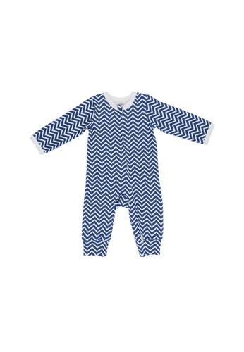 Baby Lovett blue Zigzags Two-Way Zipper Suit 93421KA822009BGS_1