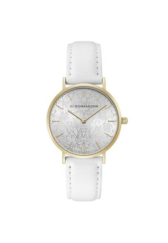 BCBG white BCBGMAXAZRIA BG50696007 Gold Tone and White Leather Watch 44FF1AC12B37C4GS_1
