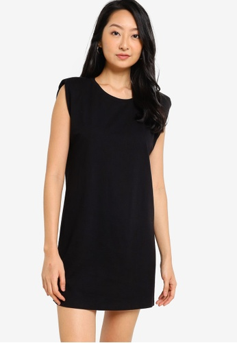 ZALORA BASICS black Shoulder Pad Dress 35CCBAA4C838EEGS_1