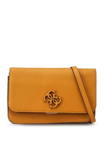 Guess orange Noelle Crossbody Flap Bag Organizer AF471ACCA1980CGS_1