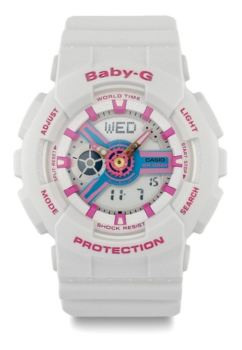 Baby-G white Casio BABY-G Jam Tangan Wanita - White Pink - Resin - BA-110NR-8ADR 268B8ACEDC6071GS_1