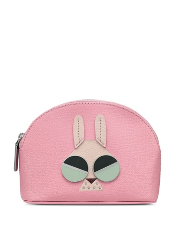 kate spade new york pink Money Bunny Small Cosmetic Pouch ABBDEAC824D06FGS_1