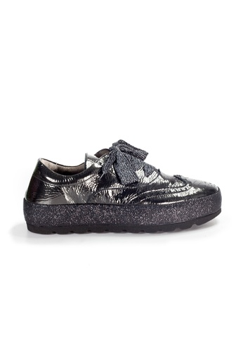 Shu Talk black XSA Stylish Oxford Patent Leather Sneakers Shoes E380ESHDC273E7GS_1