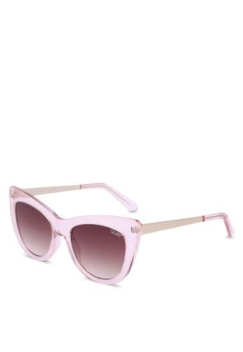 Quay Australia pink STEAL A KISS Sunglasses 9F574GLB21DE1EGS_1