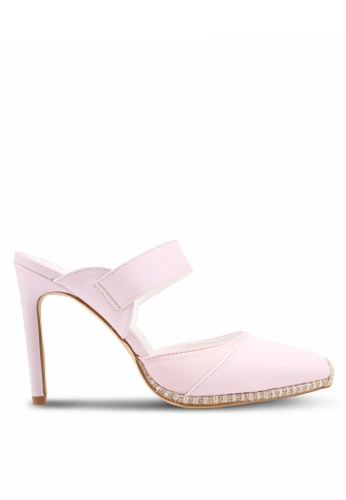 Something Borrowed 粉紅色 Slip On Stitched Heel F6E92SH1A6B0EFGS_1