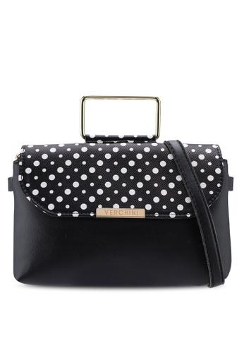 Verchini black Verchini Premium Top Handle Sling Bag AC22BAC1F4C182GS_1