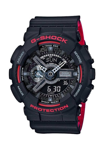 CASIO black Casio G-Shock Red and Black Resin Watch E2360AC58807BEGS_1