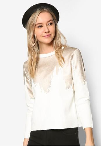 燙金印花長esprit服飾袖衫, 服飾, 外套