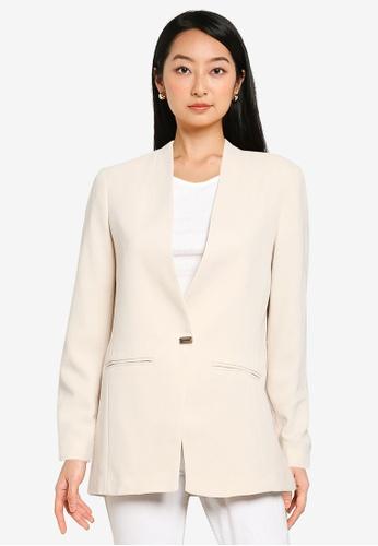 KOTON beige Casual Suit Jacket 53188AA301B166GS_1