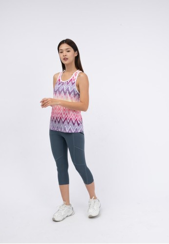 Trijee pink and yellow and blue and purple and multi Trijee Women Racerback Full Sublim Drew DC79FAA8427D84GS_1