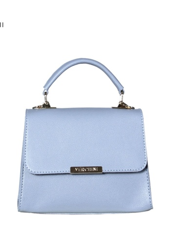 Verchini blue Verchini Metallic Push-Lock Trapeze Bag C872AAC8279A7CGS_1