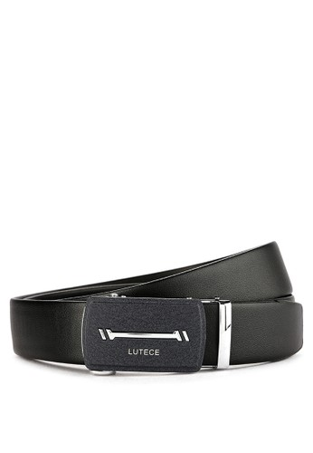 Men Automatic Buckle Belt 12C - Black - Lutece