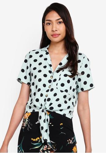 Amazon Fashion MISS SELFRIDGE Womens Gold Blouse Women