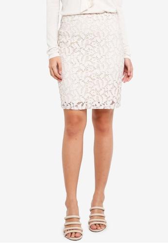 ZALORA beige Lace Skirt E2983AA7E64972GS_1