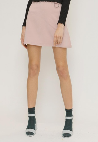 OUTSTANDING ORDINARY pink Mybell Skirt OU203AA39NYMSG_1