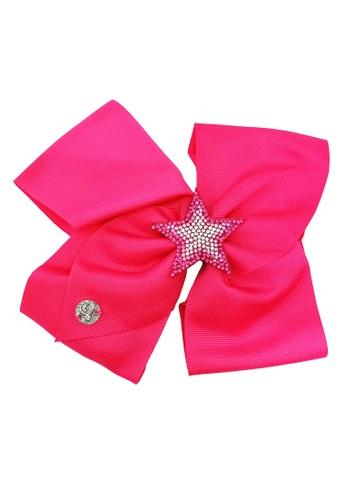 Jojo Siwa red Jojo Siwa Bow With Clip (Rose Red Star) 2BC42KC13A248DGS_1