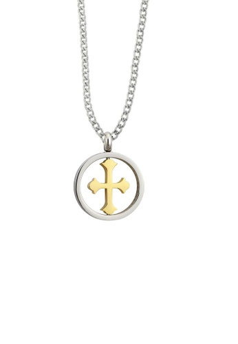 ADORA gold Cross Pendent Necklace AD365AC20MKPHK_1
