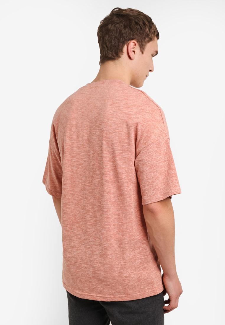 Tee Textured ZALORA Shoulder Drop Rust EqrCqWfFw