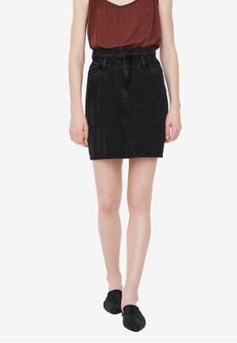 Vero Moda black Sandy Hr Paperbag Short Skirt E00E0AAF8CE2BEGS_1