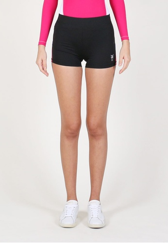 AMNIG black Women Flex Shorts (Black/Pink) 57763AA30C362EGS_1