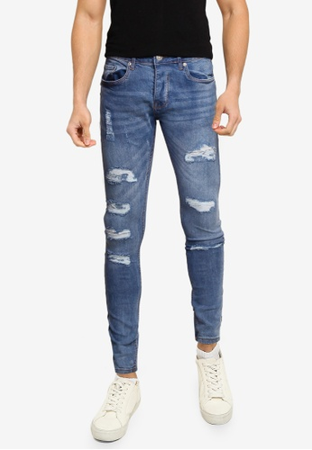 Brave Soul blue Denim Skinny Fit Jeans 6350BAA365EF97GS_1
