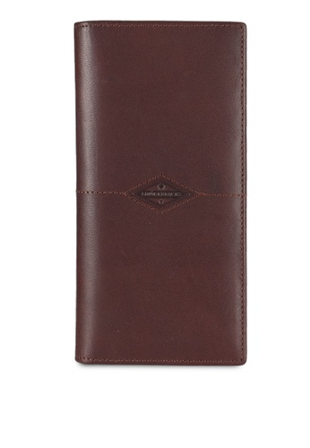 Lumberjacks brown Bi-Fold Leather Long Wallet LU545AC0RH0MMY_1