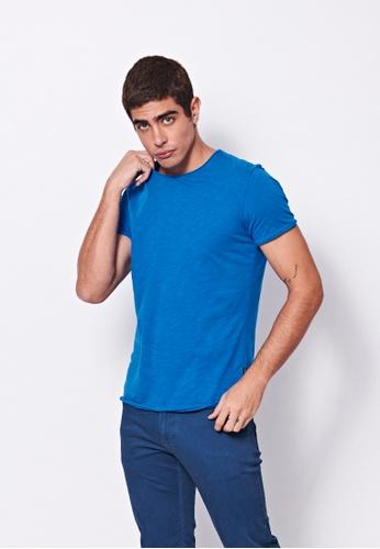 Sisley blue Crew-neck T-shirt 189F5AACB85F7DGS_1