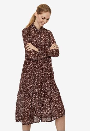 Vero Moda red Lin Dress B3E88AA7BFC6D1GS_1