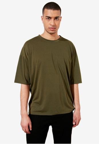 Trendyol green Basic Crew Neck Longline T-Shirt 23BF1AA1EDC868GS_1