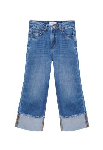 MANGO KIDS blue Turned-Up Culotte Jeans 82370KAA8C6E2FGS_1