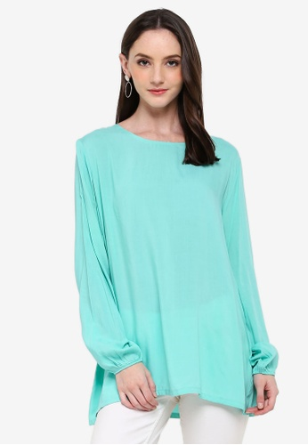 Zariya green Blouse & Tunics C0F0CAA0F7366BGS_1
