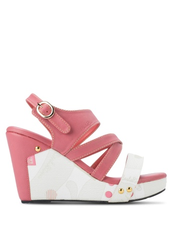 "Carlo Rino pink 4"" Sandal Platform Wedge CA220SH45EVUMY_1"