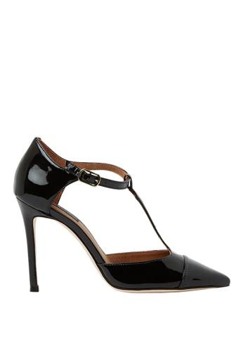 Nina Armando black Antonia Patent Leather Strap High Heel NI342SH0FV3ZSG_1