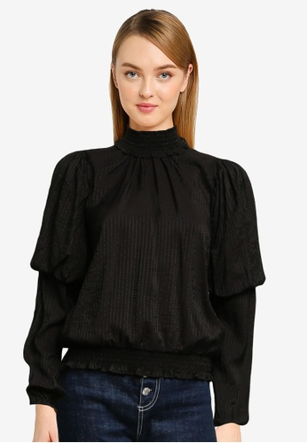 Vero Moda black Dua Long Sleeve Top 9728BAA40F8F60GS_1